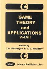 Game Theory & Applications, Volume 7