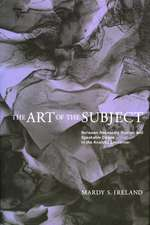 The Art of the Subject:  Between Necessary Illusion and Speakable Desire in the Analytic Encounter