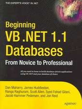 Beginning VB .NET 1.1 Databases: From Novice to Professional