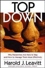 Top Down:  Why Hierarchies Are Here to Stay and How to Manage Them More Effectively