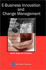 E-Business Innovation and Change Management