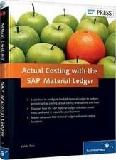Reis, V: Actual Costing with the SAP Material Ledger
