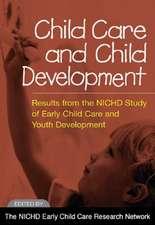 Child Care and Child Development