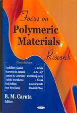 Focus on Polymeric Materials Research