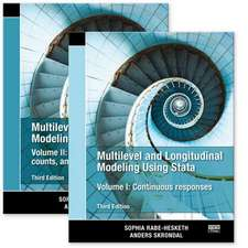 Multilevel and Longitudinal Modeling Using Stata, Volumes I and II, Third Edition:  Categorical Responses, Counts, and Survival, Third Edition