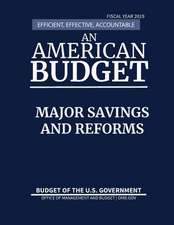 Major Savings and Reforms, Budget of the United States, Fiscal Year 2019