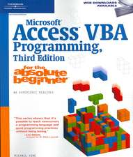 Microsoft¿ Access VBA Programming for the Absolute Beginner