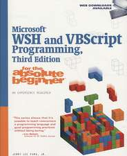 Ford, J: Microsoft WSH and VBScript Programming for the Abso