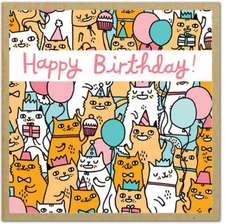 Birthday Cats:  Greengift-Notes -- Small Gift Encolsure Cards Printed on Uncoated & Ecologically Friendly Paper