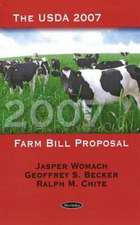USDA 2007 Farm Bill Proposal