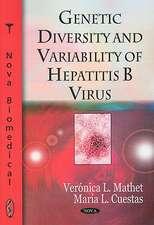 Genetic Diversity and Variability of Hepatitis B Virus
