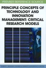 Principle Concepts of Technology and Innovation Management