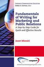 Fundamentals of Writing for Marketing and Public Relations