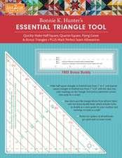 Fast2cut Bonnie K. Hunter's Essential Triangle Tool: Quickly Make Half-Square, Quarter-Square, Flying Geese & Bonus Triangles - Plus Mark Perfect Seam