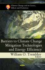 Barriers to Climate Change Mitigation Technologies & Energy Efficiency