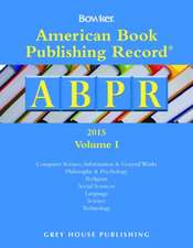 American Book Publishing Record Annual - 2 Vol Set, 2014
