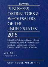 Publishers, Distributors & Wholesalers in the Us - 2 Volume Set, 2016