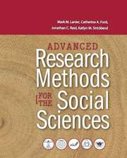 Advanced Research Methods for the Social Sciences