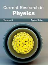 Current Research in Physics