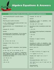 Algebra Equations & Answers