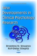 New Developments in Clinical Psychology Research