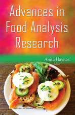 Advances in Food Analysis Research