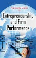 Entrepreneurship & Firm Performance