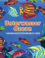 Unterwasser Ozean Färbung Buch Fisch und Meer Leben