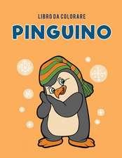 Libro da colorare pinguino