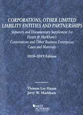 Hazen, T:  Corporations, Other Limited Liability Entities, S