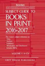 Subject Guide to Books in Print - 6 Volume Set, 2016/17
