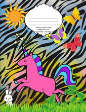 Abstract Unicorn Zebra Notebook: School Supplies Primary Composition Book for Kids