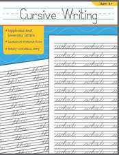 Cursive Writing: Words Cursive Handwriting Workbook for Kids