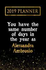 2019 Planner: You Have the Same Number of Days in the Year as Alessandra Ambrosio: Alessandra Ambrosio 2019 Planner