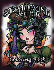 Steampunk Darlings Coloring Book