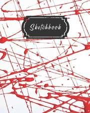 Red Splatter Paint Art Sketchbook