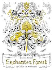Basford, J: Enchanted Forest: 12 Colour-in Notecards