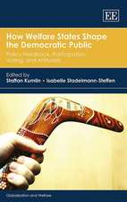 How Welfare States Shape the Democratic Public – Policy Feedback, Participation, Voting, and Attitudes