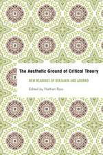 The Aesthetic Ground of Critical Theory