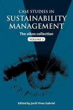 Case Studies in Sustainability Management