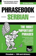 English-Serbian Phrasebook and 1500-Word Dictionary