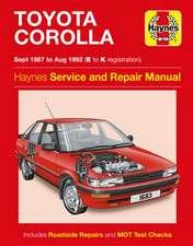 Toyota Corolla Petrol (Sept 87 - Aug 92) Haynes Repair Manual