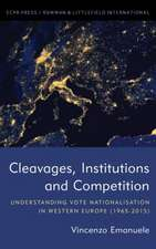 Cleavages, Institutions and Competition
