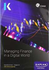 E1 MANAGING FINANCE IN A DIGITAL WORLD - STUDY TEXT
