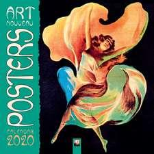 Art Nouveau Posters Wall Calendar 2020 (Art Calendar)