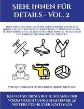 Vor-Kindergarten Druckbare Arbeitsblätter (Siehe innen für Details - Vol. 2)