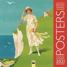 English Travel Posters Wall Calendar 2021 (Art Calendar)