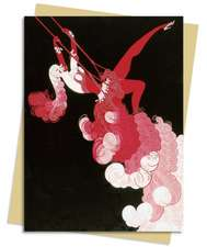Trapeze (Erté) Greeting Card: Pack of 6
