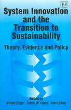 System Innovation and the Transition to Sustainability: Theory, Evidence and Policy