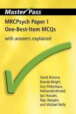 Mrcpsych Paper I One-Best-Item McQs:  With Answers Explained